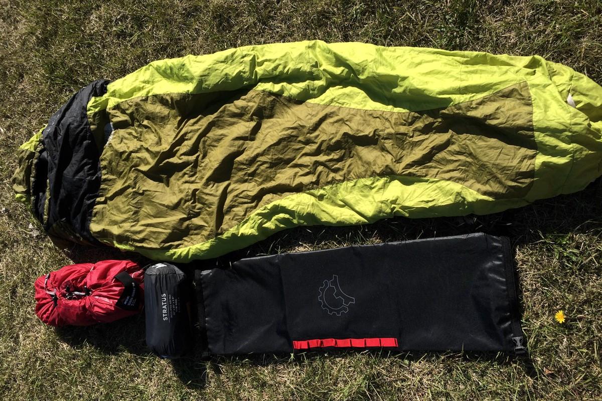 Saltyroll with sleeping system