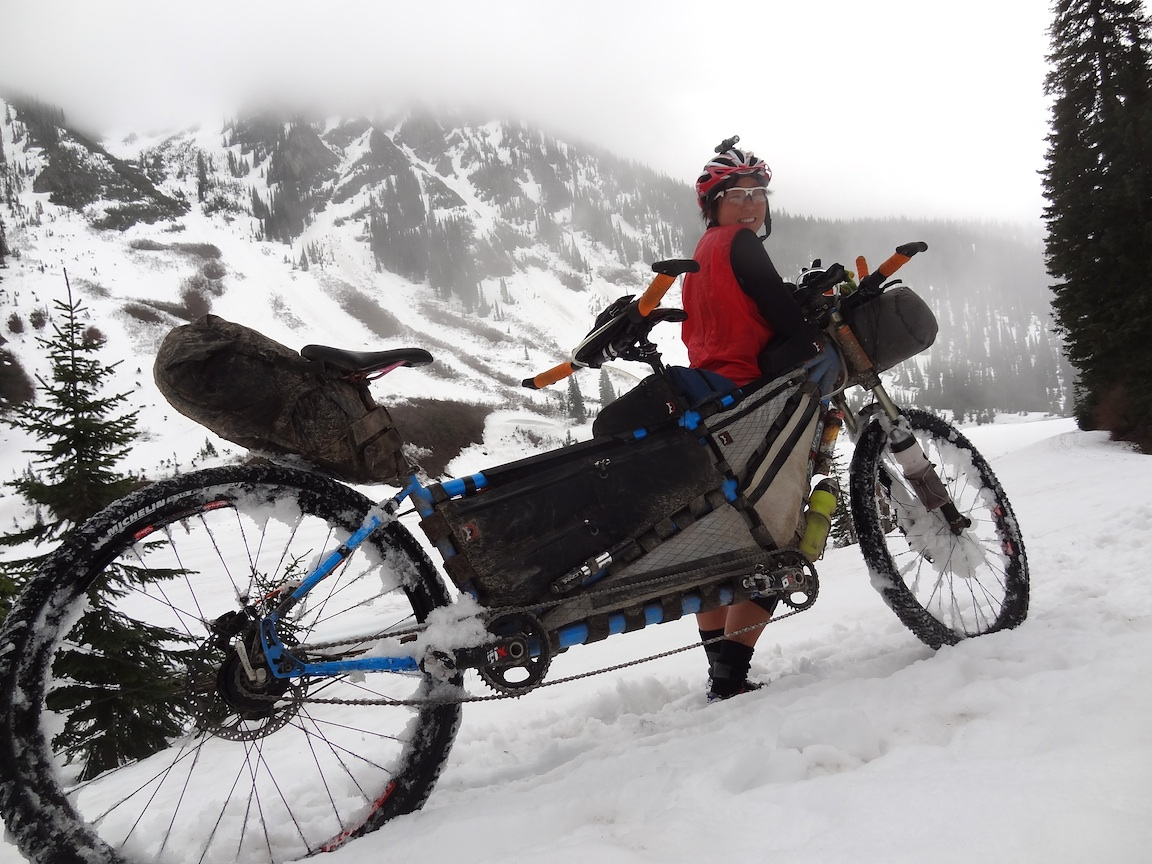Doing the Tour Divide tandem in 2012 with Kaitlyn Boyle.